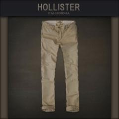 ホリスター HOLLISTER 正規品 メンズ スリムストレートチノパン カーキ