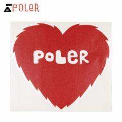 ポーラー POLER 正規販売店 ステッカー POLER DIE-CUT STICKER FURRY HEART 5inch (11.8cm×12.7cm)
