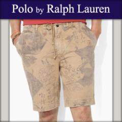 ポロ ラルフローレン POLO RALPH LAUREN 正規品 メンズ ショートパンツ Tattoo-Print Short カーキ
