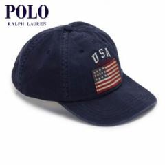 ポロ ラルフローレン POLO RALPH LAUREN 正規品 メンズ 帽子 キャップ COTTON CHINO SIX PANEL FLAG CAP