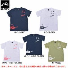 RUSTY(ラスティ)ニコちゃんマーク キッズ Tシャツ(966207)スポーツ カジュアル ハーフスリーブ ジュニア キッズ