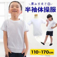 ◆体操服 体操着 半袖Tシャツ 白 ホワイト 体操着 体操服 (女の子/男の子)110cm / 120cm / 130cm / 140cm / 150cm / 160cm /  170cm