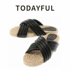 【SALE50%OFF】TODAYFUL トゥデイフル Cross Leather Sandals サンダル 11611024