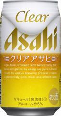 【2ケース単位】【送料無料!】(北海道、沖縄、離島地域は除く。配送は佐川急便で。)アサヒクリアアサヒ350ML缶(6缶パック×4