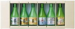 送料無料(北海道、沖縄と離島地域を除く。佐川急便指定)白牡丹300ml×6本入飲み比べ清酒セット(NS−30F)ギフト箱入 広島県:白