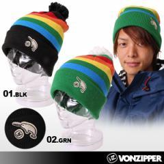 VONZIPPER/ボンジッパー スノーニット帽子 メンズ ビーニー ニットキャップ 男性用 スノーボード スノボー AC212-902