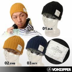 ☆VONZIPPER/ボンジッパー メンズ(男性用)折り返し ニット帽子 ビーニー ニットキャップ ぼうし{AC212-900}