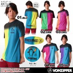 VONZIPPER/ボンジッパー メンズ(男性用)プリント半袖Tシャツ{AC211-310}★SALE★