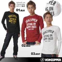 VONZIPPER/ボンジッパー メンズ(男性用)プリント長袖Tシャツ ロングTシャツ ロンT ティーシャツ 柄 ロゴ AC212-059