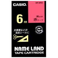 ラベルテープ XR-6RD 赤に黒文字 6mm