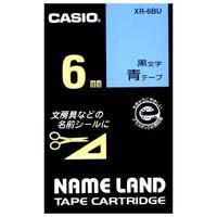 ラベルテープ XR-6BU 青に黒文字 6mm