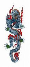 タトゥーシール【ミニサイズ (5×9cm)】 青龍(小)(タトゥー/ミニ/TATOO/シール/通販)