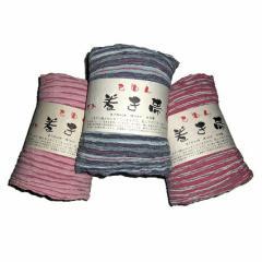 手染め 巻き帯【もめんちぢみ】綿100%  ピンク/縞  紺/縞  赤/縞