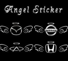 【特価】「送料無料」エンブレム 天使 Angel 3D デコ 立体 車用 くるま ステッカー カー トヨタ ホンダ シール  装飾 外装 カーアクセサ