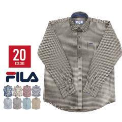 FILA フィラ シャツ メンズ チェック 長袖 ネルシャツ 腰巻 ワイシャツ Yシャツ カジュアルシャツ 大きいサイズ ブランド アパレル