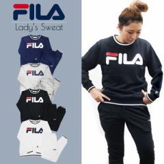 FILA フィラ スウェット レディース スエット レディース 上下セット セットアップ 長袖 パンツ 裏毛 ルームウェア 部屋着 パジャマ ブラ