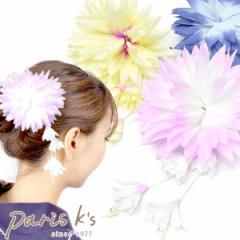 飾り紐さがり お花 ヘアクリップ