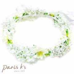 花かんむり 花冠  造花 ホワイト 白い 結婚式 ヘアアクセサリー ヘッドアクセサリー ティアラ