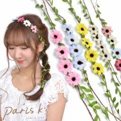 【 メール便 送料無料 】 花かんむり 花冠 造花 ヘッドドレス ヘッドアクセ ヘアアクセサリー 花 フラワー