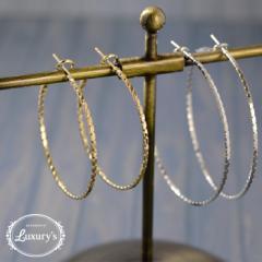 【 送料無料 】 ピアス ニッケルフリー フープピアス シンプル 50mm 40mm 4cm 5cm Luxurys ゴールド シルバー 華奢 レディース 細い
