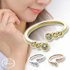 【 メール便 送料無料 】 ピンキーリング リング 指輪 キュービック ジルコニア 巻き付き デザイン Luxurys 上品 重ねづけ