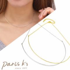 ネックレス フィーネ メタル チョーカー ネックレス シンプル ゴールド シルバー