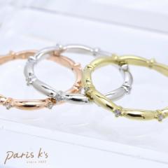 シンプル キュービック ピンキー リング 指輪 ゆびわ 真鍮 ゴールド シルバー ピンクゴールド