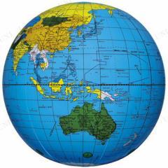 地球儀ボール ブルー パーティーグッズ パーティー用品 イベント用品 風船 バルーン 飾り ふうせん 店舗ディスプレイ 店舗装飾