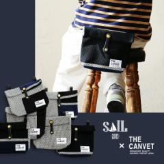 (ザ・キャンベット) THE CANVETウエストバッグ 刺し子生地 日本製 革 ベルト メンズ レディース