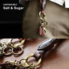 (ソルトアンドシュガー) Salt&Sugar キーリング アクセサリー メッシュカウレザー使い ハンドステッチ 本革