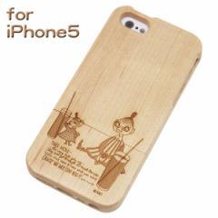 廃盤201704 リトルミイ & ミムラ 木製 iphone5 カバー ナチュラル WOODケース/スマホケース iPhone5 専用 ムーミン グッズ (ORMN モバイ