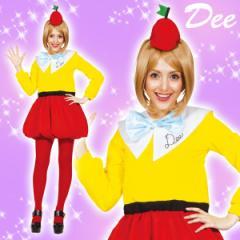 ディズニー コスチューム 大人 女性用 トゥイードル・ディー 不思議の国のアリス 仮装