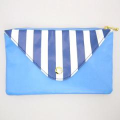 ムーミン 封筒型ペンポーチ (ペンケース/筆入れ/小物入れ) ブルー