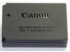 Canon キヤノン LP-E12 バッテリーパック充電池  国内純正品 LPE12 送料無料【メール便(ネコポス)】