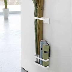 マグネットを使ってドアに取り付ける傘立て マグネットアンブレラスタンド ドアが収納スペースに 2color 01-ホワイト02-ブラック