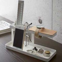 リビング&玄関雑貨 デスクバー タワー 鍵 腕時計 スマホ メガネ 指輪 リモコン収納 お出かけアイテム収納 2color