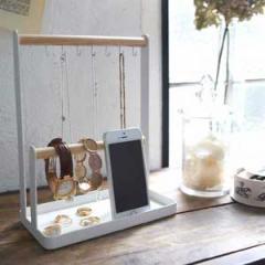 リビング&玄関雑貨 アクセサリースタンド トスカ ホワイト ネックレス 時計 リング ブレスレット ジュエリー オシャレに収納 1color