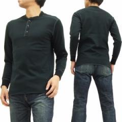 フェローズ ヘンリーネック 長袖Tシャツ PCT2 Pherrows Pherrows 無地 メンズ ロンtee ブラック 新品
