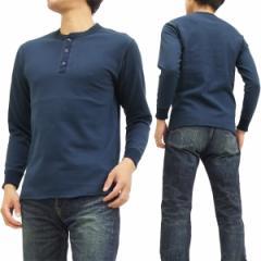 フェローズ ヘンリーネック 長袖Tシャツ PCT2 Pherrows Pherrows 無地 メンズ ロンtee ネイビー 新品