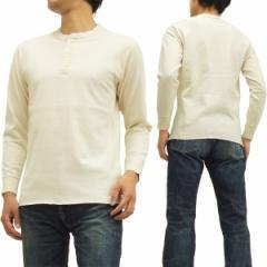 フェローズ ヘンリーネック 長袖Tシャツ PCT2 Pherrows Pherrows 無地 メンズ ロンtee オートミール 新品