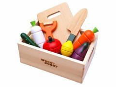 木のおもちゃ はじめてのおままごと サラダセット [幼児玩具] (4526324513461)