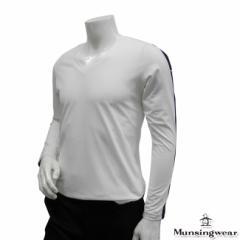 ◆【2014年春夏モデル】Munsingwear-マンシングウエア- MENS SG1241(メンズ) Vネック長袖シャ