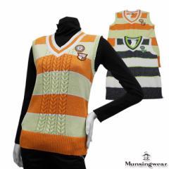 ◆【2014年春夏モデル】Munsingwear-マンシングウエア- LADYS SL5045(レディース) Vネックベ