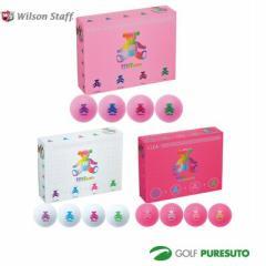 【即納!】【レディース】Wilson BEAR CLEAゴルフボール 1ダース 2013年モデル(12球)[2color][ウィルソン ベアークレア]