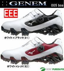 ミズノ ジェネム005 ボア ゴルフシューズ 51GM1501**【EEE】[Mizuno GENEM 3E boa 靴]【■M■】