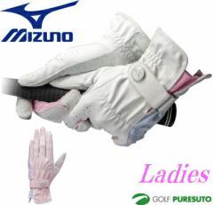 【レディース】ミズノ ゴルフ グローブ プラスミー ダブルグリップ 5MJWB501 両手用 【■M■】[Mizuno Golf +me W-GRIP 女性用]