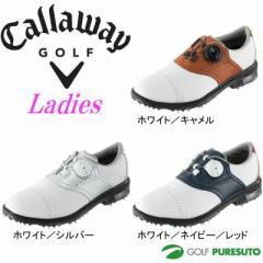 【即納!】キャロウェイ ゴルフシューズ ツアースタイルサドル LS ウィメンズ 15 JM [Callaway Tour Style Saddle LS Womens 15 JM]