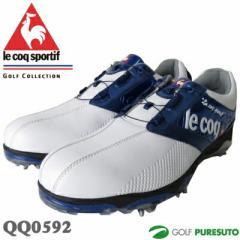 【即納!】ルコックゴルフ ゴルフシューズ QQ0592 ホワイト×ブルー ヒールダイヤル式WLS[le coq sportif 靴]