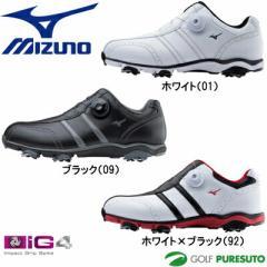 ミズノ ワイドスタイル 001 ボア ゴルフシューズ 51GQ1430**【■M■】[Mizuno WIDE STYLE 001 Boa 4E EEEE 靴]