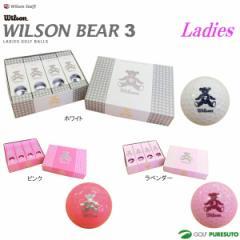 【即納!】【レディース】ウィルソン ベアー 3ゴルフボール 1ダース ●2016年モデル●(12球入り) [Wilson BEAR3 女性用]
